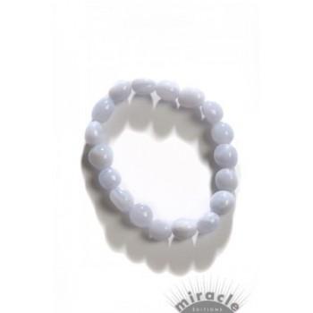Calcédoine bleue, bracelet
