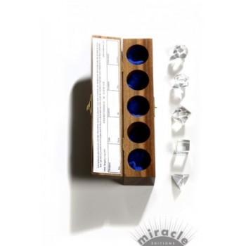 Coffret des Solides de Platon en Cristal de roche