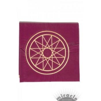 Tapis violet 80 x 80 cm Esotérique