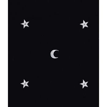 Tapis bleu foncé 80 x 80 cm Lunes et étoiles